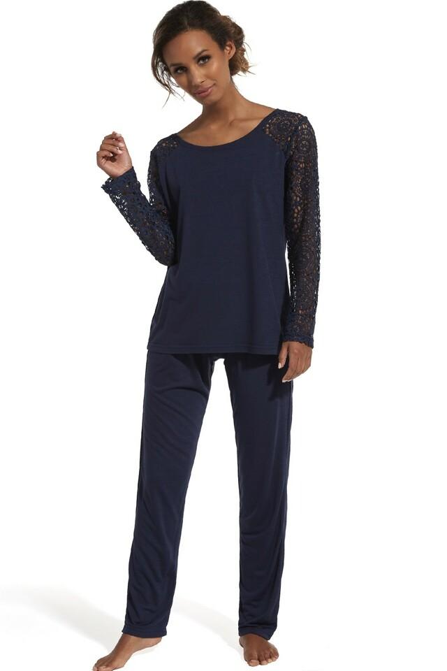 Dámské pyžamo 150/144 Lena - XL - tmavě modrá