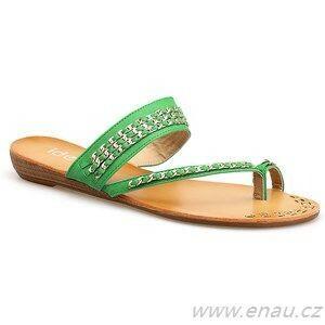 Dámské boty žabky 95AU374 - Ideal - 36 - zelená
