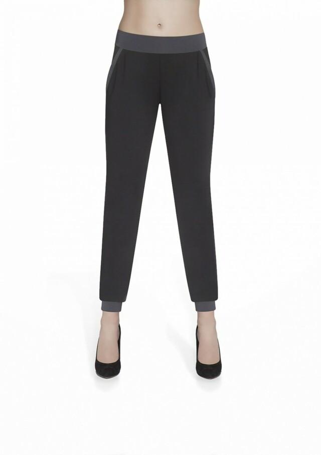 Dámské sportovní kalhoty Hannah grafit - L - černá-šedá