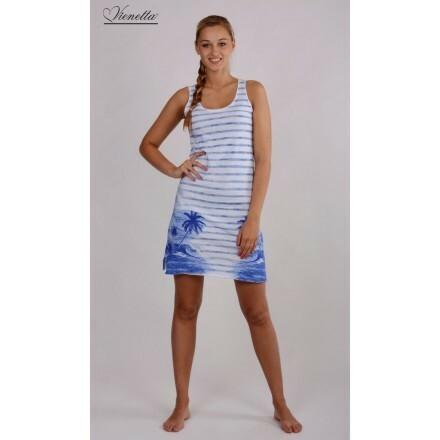 Dámská košilka Ostrov - Vienetta - S - bílo-modrá
