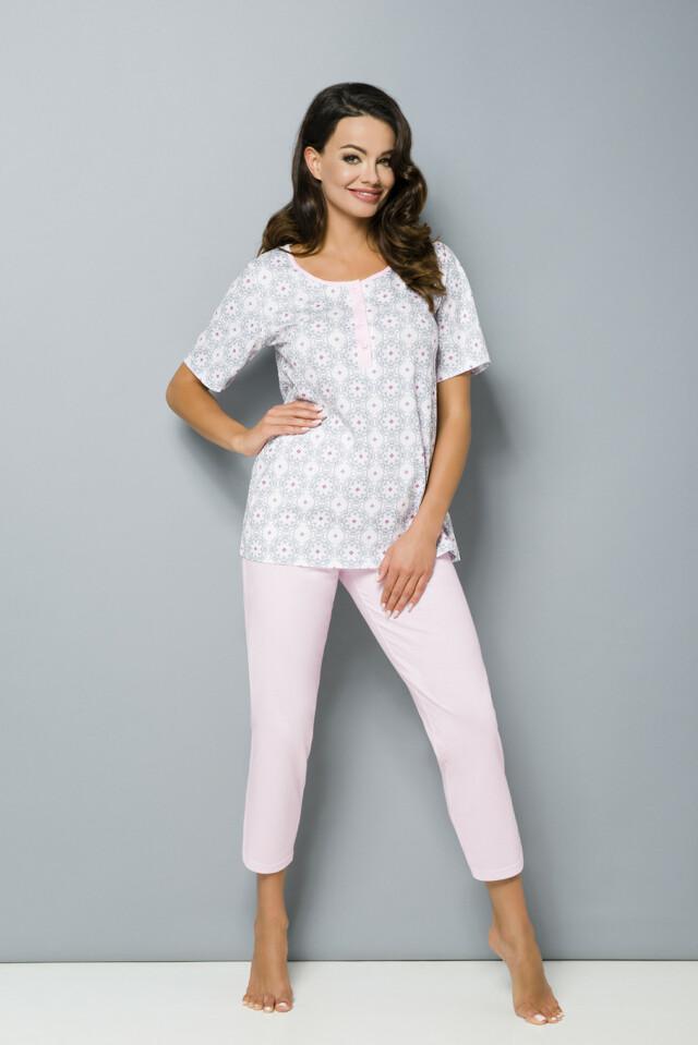 Dámské pyžamo Regina 852 kr/r 2XL-3XL - 3XL - modrá