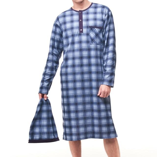 Noční košile Cornette 110 pánská - L - tmavě modrá-modrá