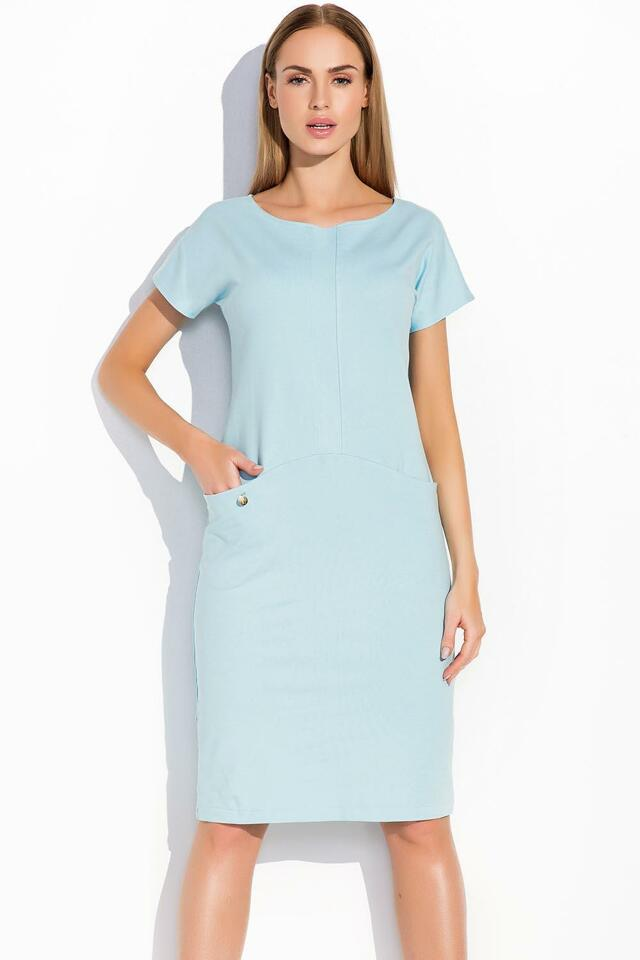 Šaty Makadamia M292 - 36 - modrá