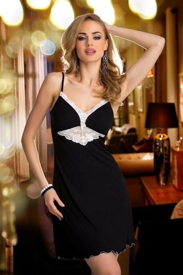 Dámská noční košilka Eldar First Lady Rossi - S - černá