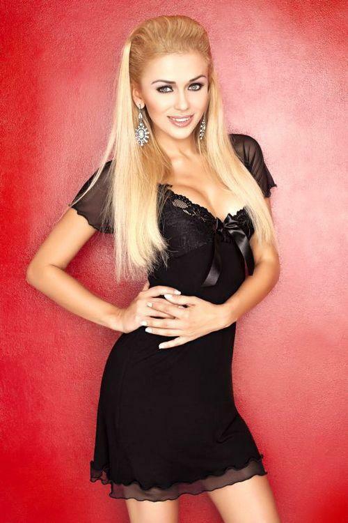 Dámská košilka Irina black - M - černá