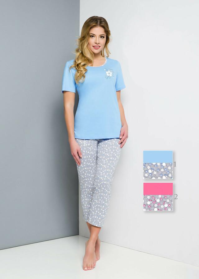 Dámské pyžamo Regina 860 kr/r S-XL - S - modrá