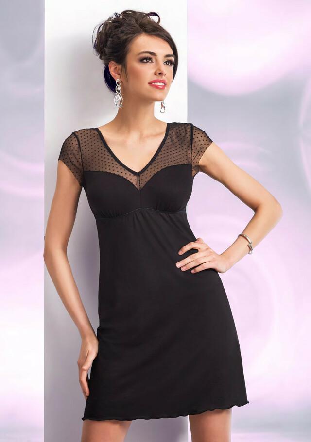 Noční košilka Donna Naomi - XL - černá