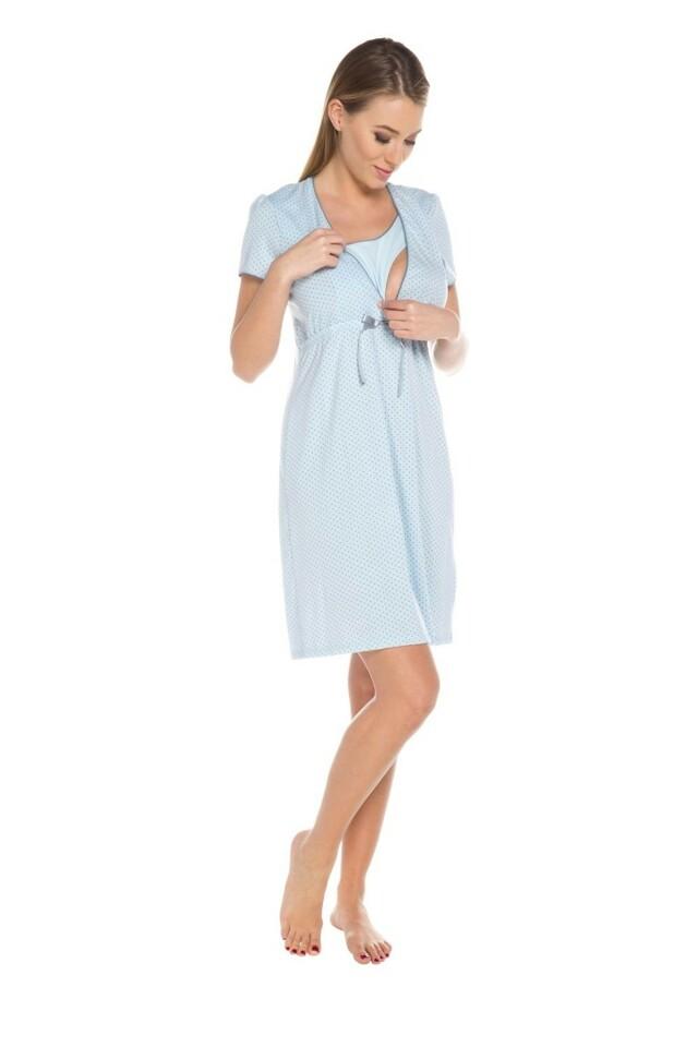 Dámská kojící košile Felicita blue - M - světle modrá