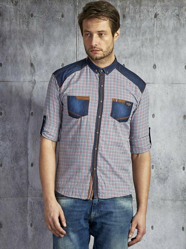 Pánská vícebarevná károvaná bavlněná košile PLUS VELIKOST - M