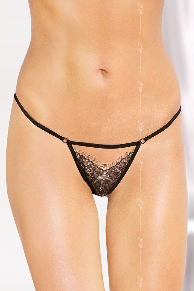 Erotická tanga 2449 - S/L - černá
