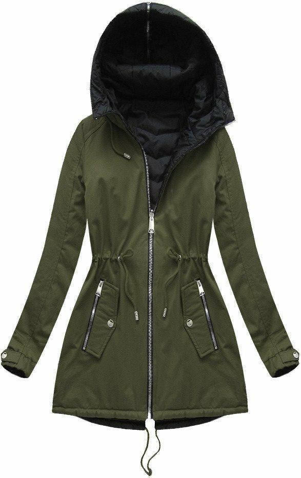 Khaki dámská oboustranná bunda (XW623BIGX) - 50 - khaki