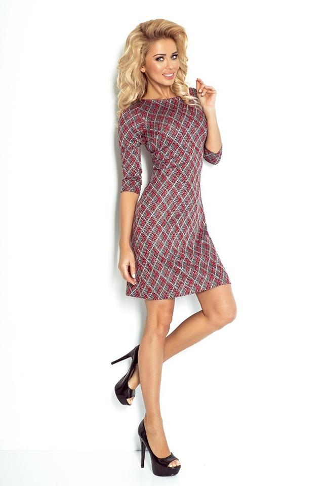 Denní šaty model 52409 Numoco - M - černo-červená