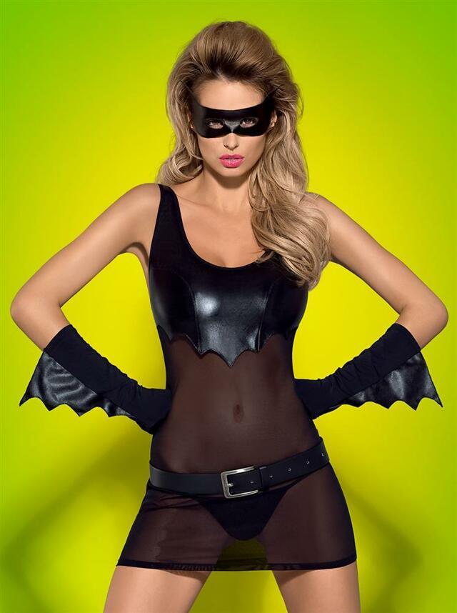 Sexy kostým Batty - Obsessive - L/XL - černá