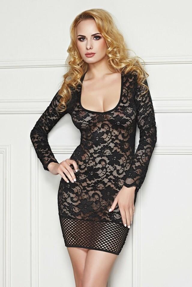 Erotická košilka Olinda - M/L - černá