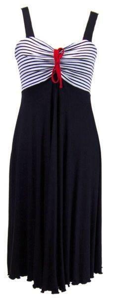 Dámské šaty Jelena 0043 - Sailor Tom - M - tmavě modrá s bílou