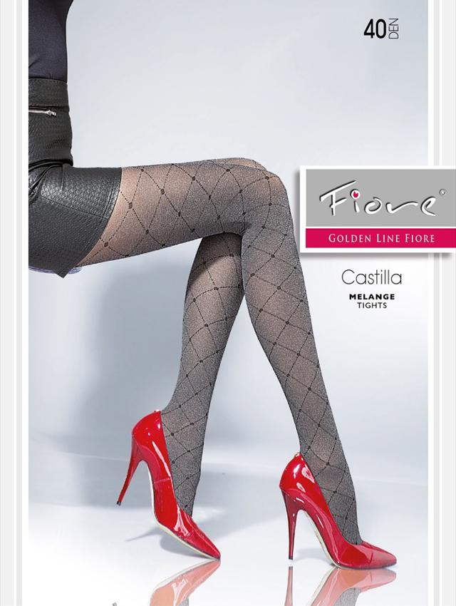 Dámské punčochové kalhoty Fiore Castilla G 5640 40 den - 4-L - černá