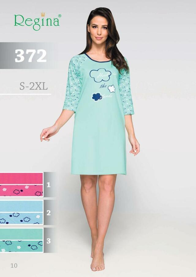 Dámská noční košile 372 - růžová - XL