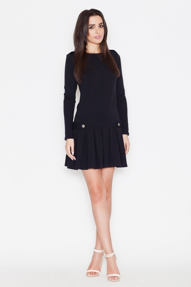 Katrus dámské šaty K267 černé - L - černá