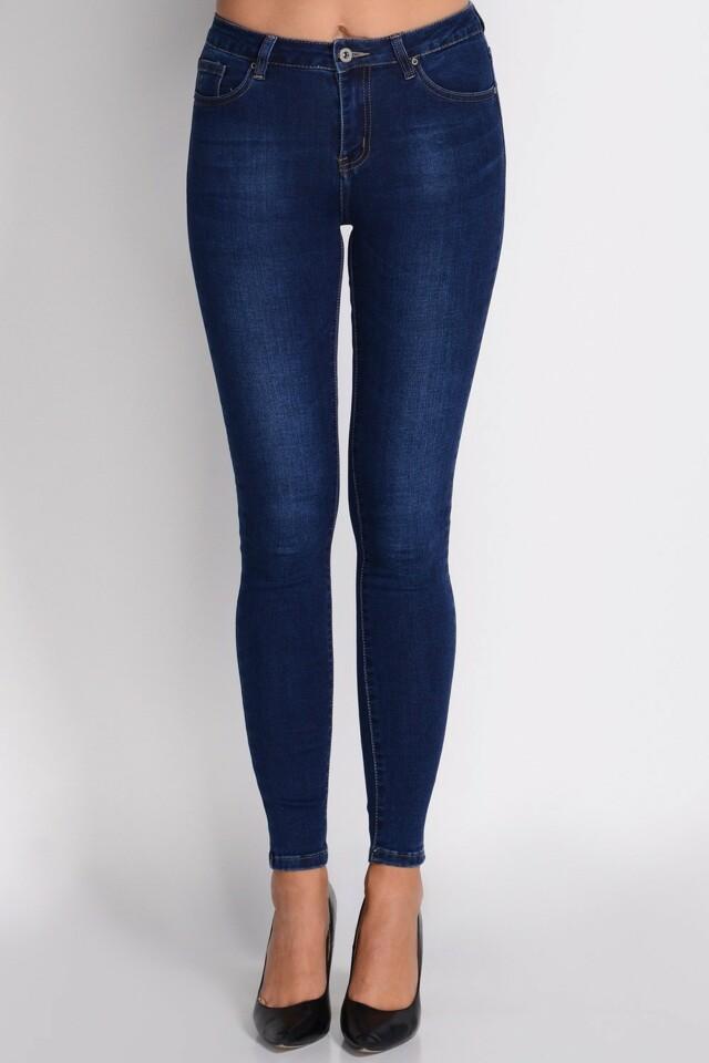 Dámské kalhoty Avaro SD-217 - XL - jeansová