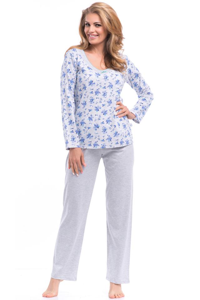 Dámské pyžamo Dobranocka PB.8059 - L - šedá modrá