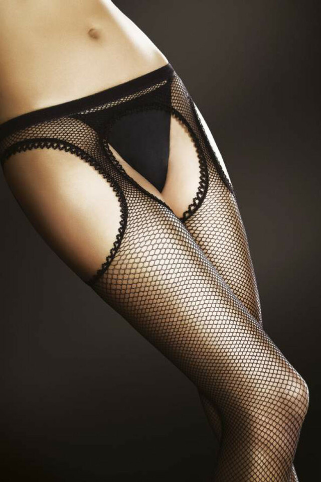Punčochové kalhoty Fiore Passion - 4-L - black