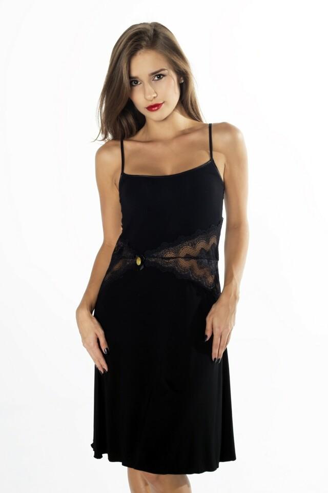 Dámská noční košile Gaia Amber Edition NKV 121 - L - černá