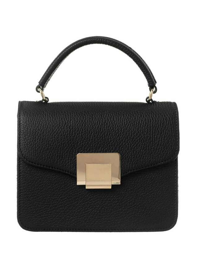BADURA Černá kožená kabelka - ONE SIZE