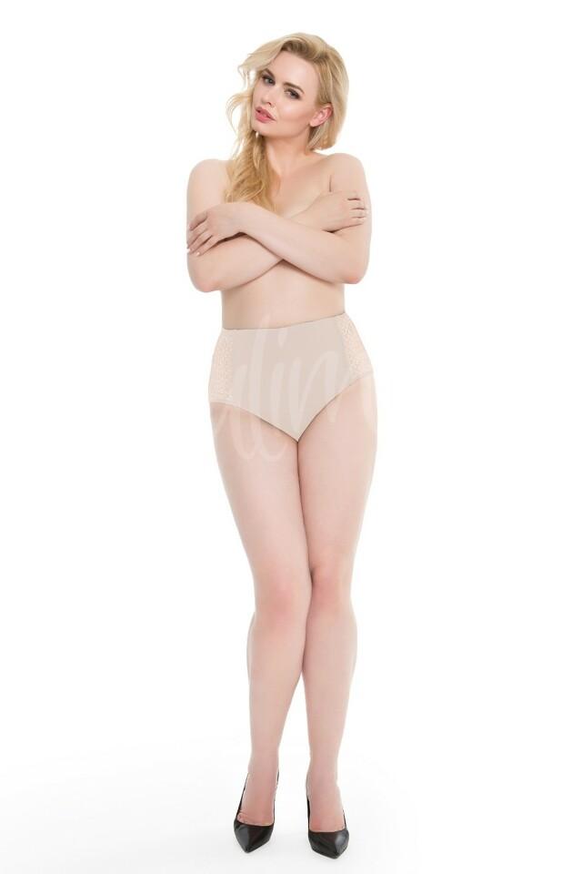 Dámské kalhotky Julimex Opal Panty - XL - béžová