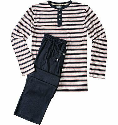 Pánské pyžamo 57010 - Jockey - M - modrá-proužek