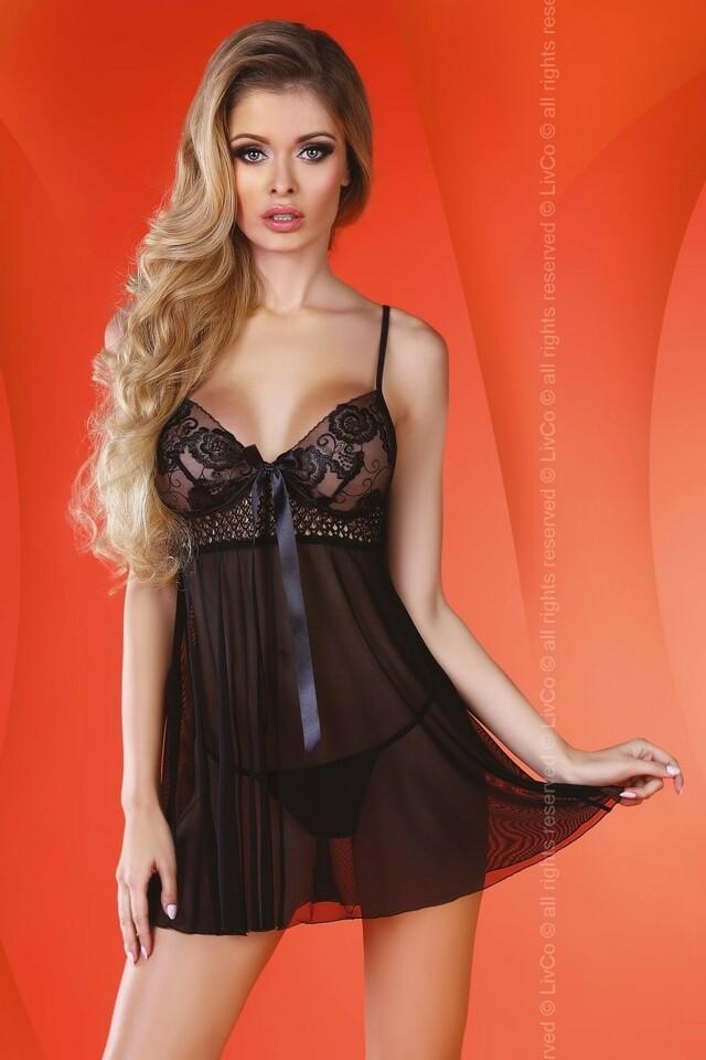 Erotická košilka Lizzie - L/XL - černá