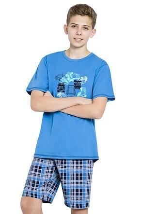 Chlapecké pyžamo s náklaďáky Franta modré - 146