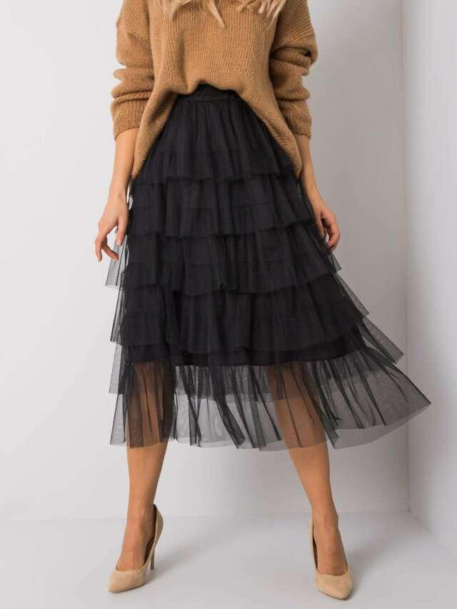 OCH BELLA Černá tylová sukně - ONE SIZE