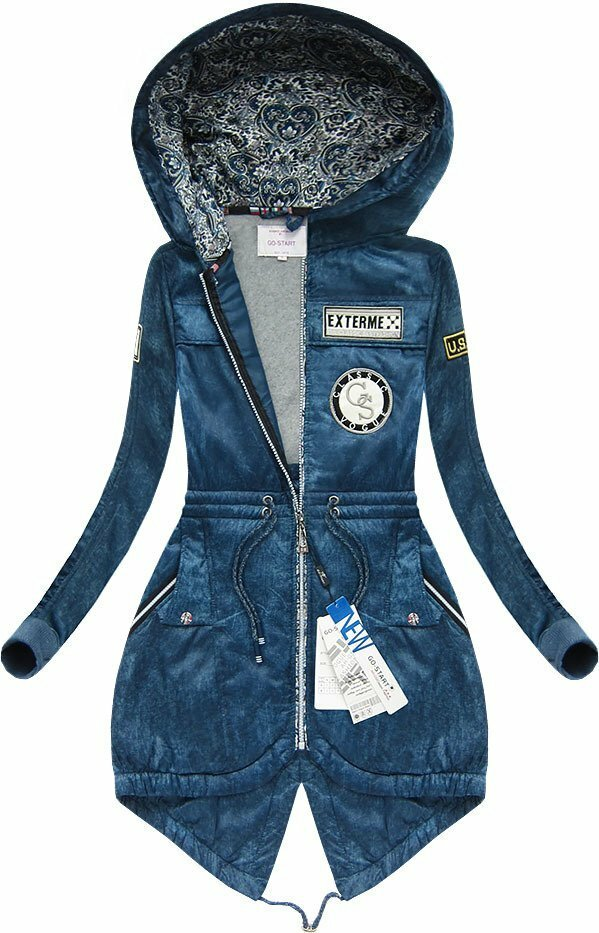 Modrá dámská mikina s kapucí 2 (66706) - M (38) - modrá
