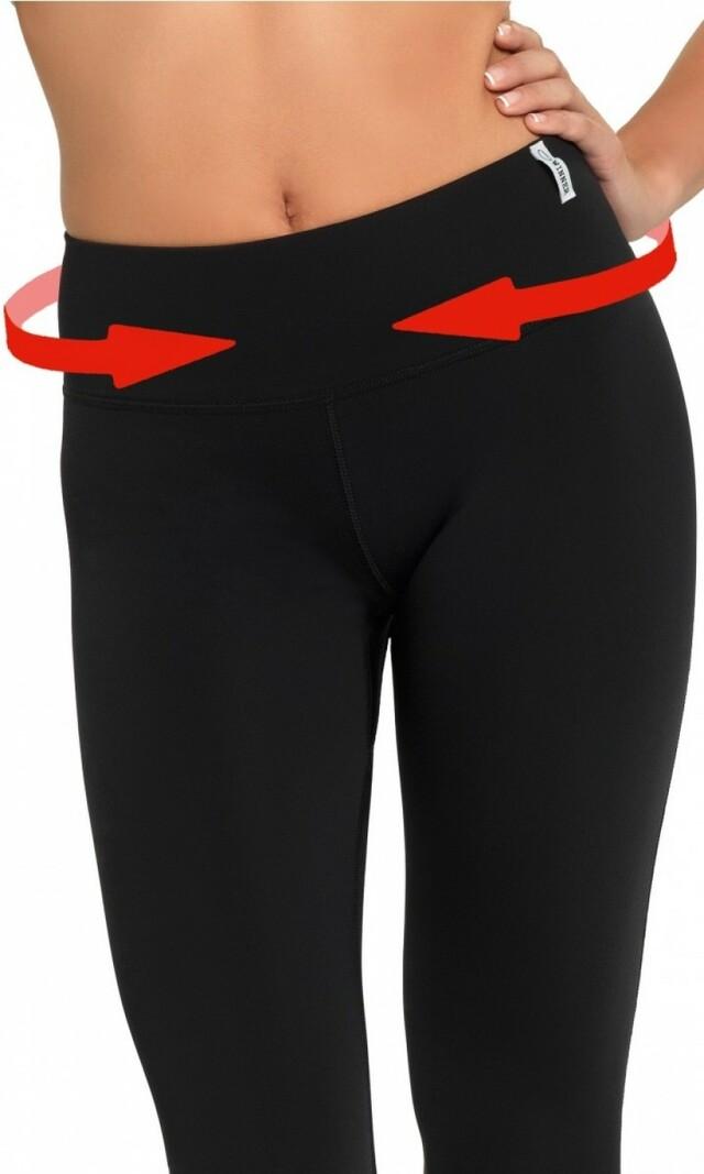 Fitness legíny Slimming capri - XXL - černá