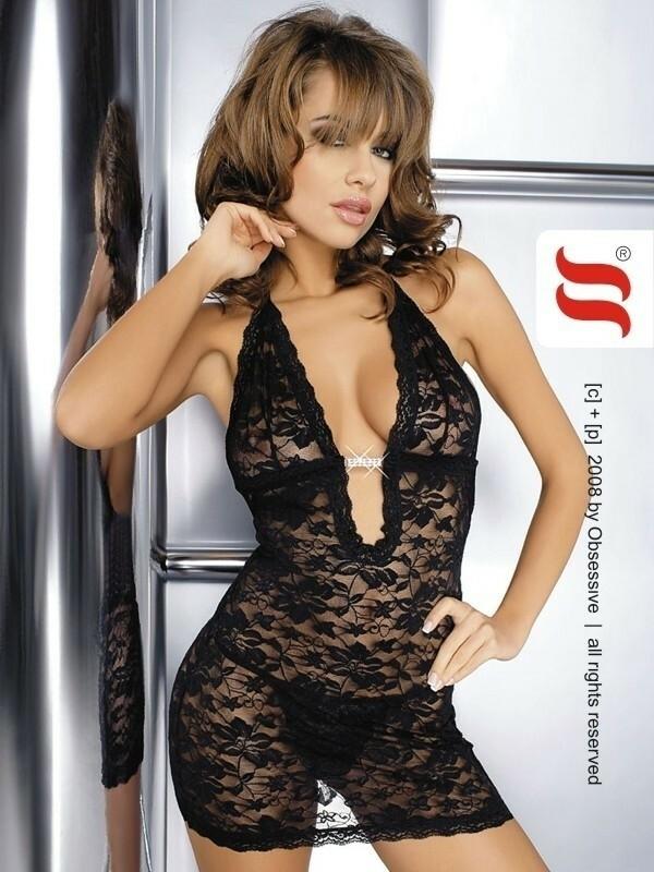 Košilka Brilliant Jennifer XXL - Obsessive - XXL - černá