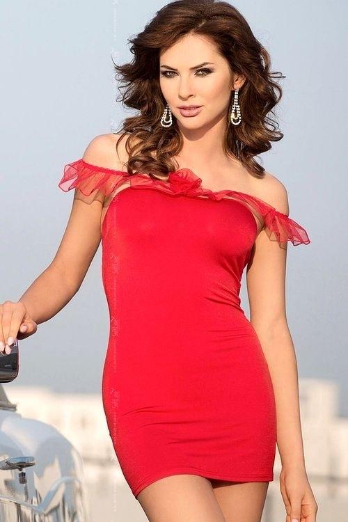 Dámská košilka Adeline red - S/M - červená