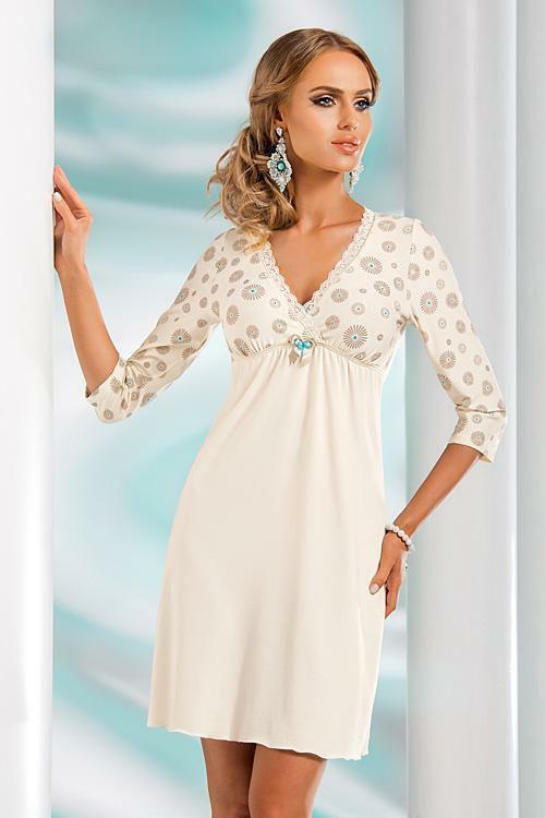 Noční košilka Donna Fabia II - XL - krémová