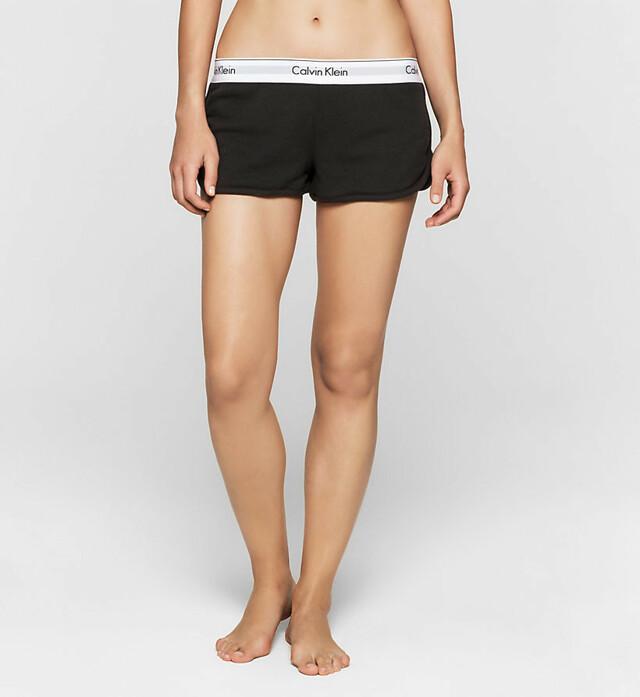 Dámské šortky Modern Cotton QS5717E - Calvin Klein - M - bílá s šedou