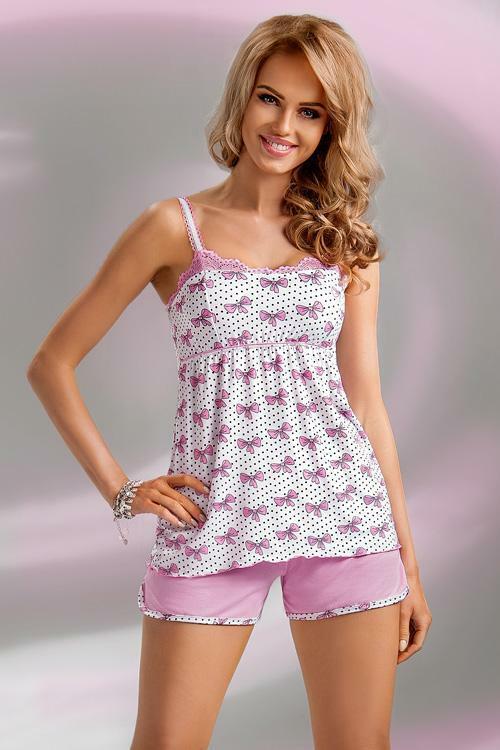 Dámské pyžamo Donna Tifani PJ 1/2 pink - XXL - růžová