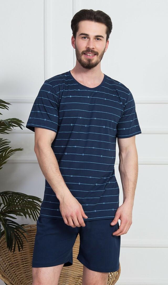 Pánské pyžamo šortky Vilém - světle šedá M