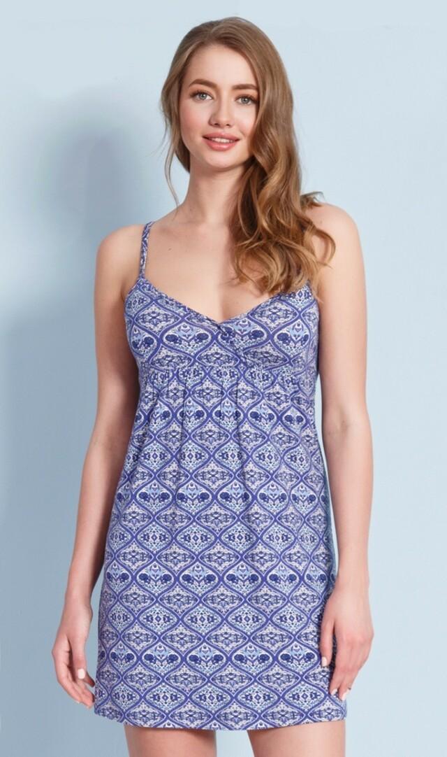 b7365dd8a0df Dámské šaty Petra - modrá L