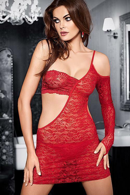 Erotická košilka Tessoro 242 Carmine Lady