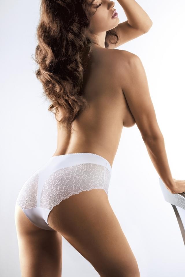 Dámské kalhotky 058 white - XXL - bílá