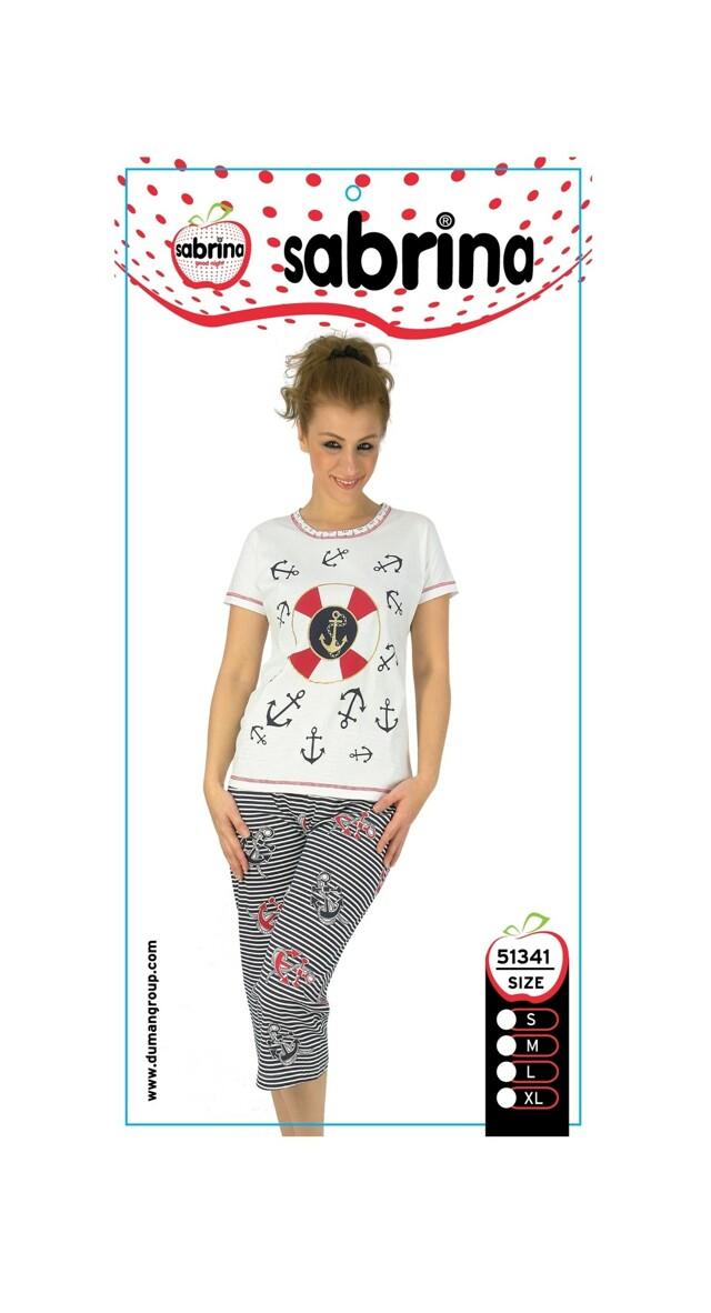 Dámské pyžamo 51341 Sabrina - L - bílá