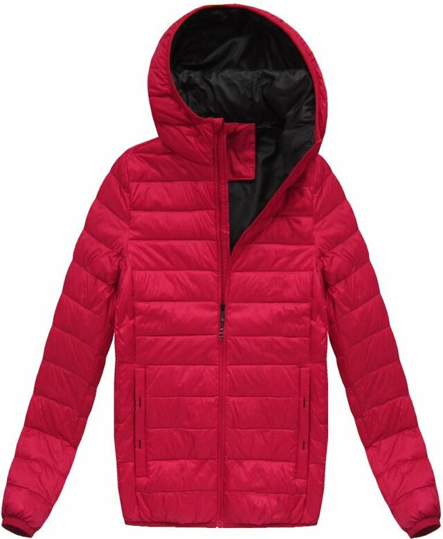 b222d72a3 Červená pánská bunda s přírodní vycpávkou (5023)