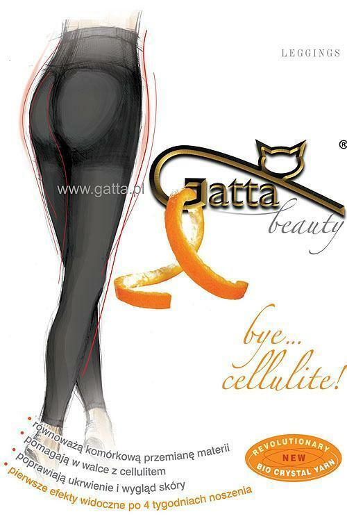 Punčochové kalhoty Gatta Bye Cellulite - 2-S - nero