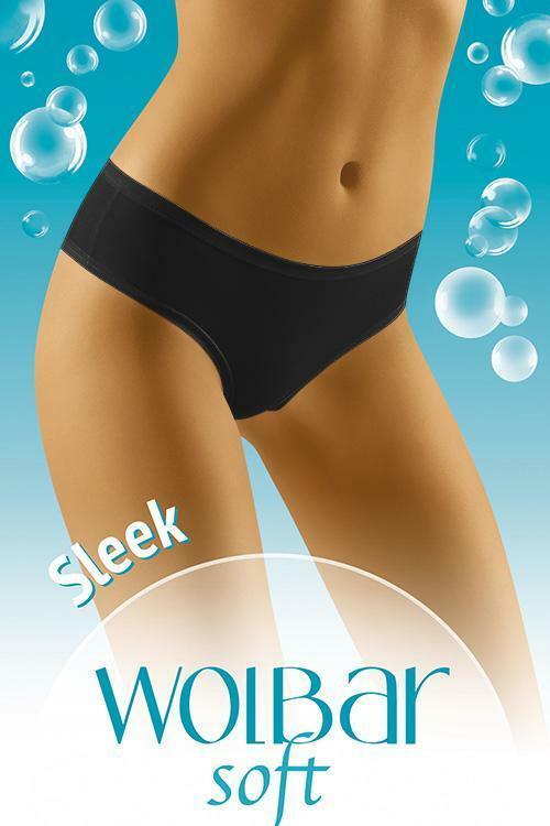 Klasické kalhotky Kalhotky Wol-Bar Soft Sleek - L - černá