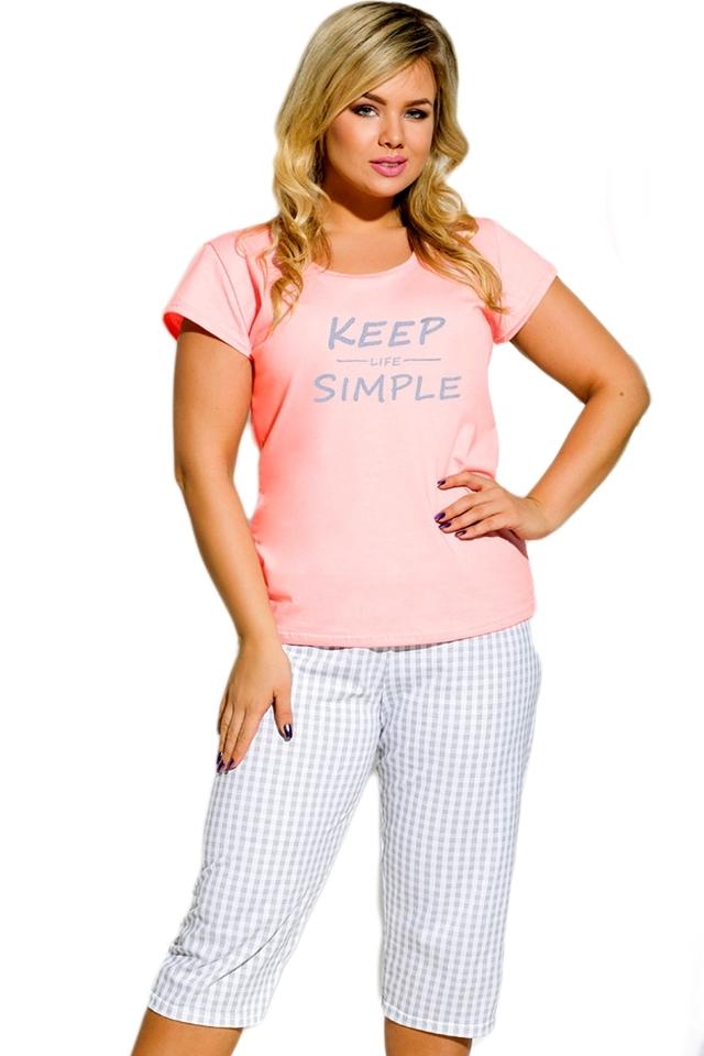 Dámské pyžamo 2194 Paula 02 - XXL - růžová