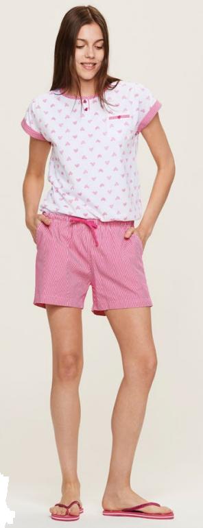 Dámské pyžamo FA6416PB Noidinotte - XS - růžovo/bílá