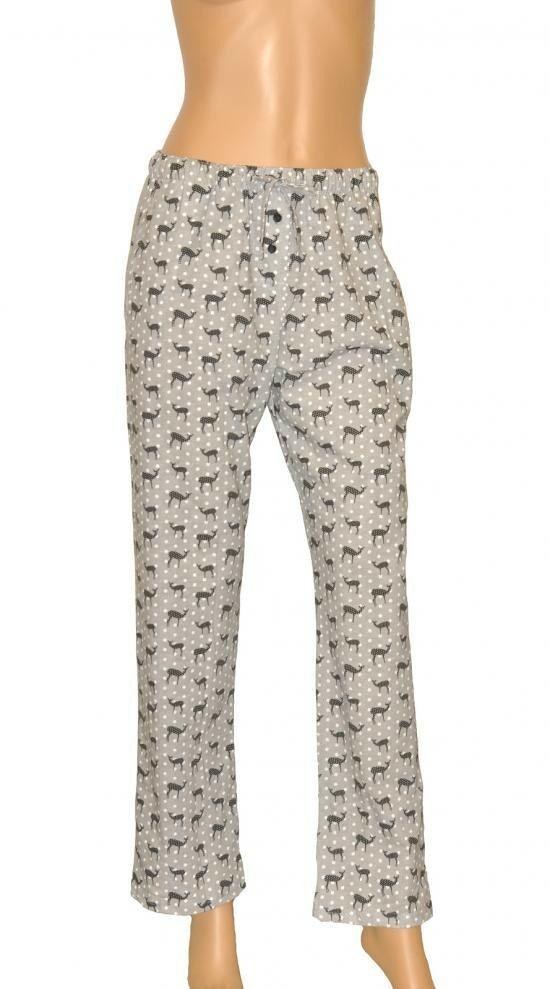 Dámské pyžamové kalhoty 690/09 - Cornette - L - černo-bílá